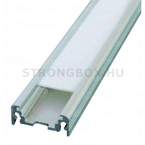 LED alu profíl SURFACE csavarozva 1m eloxált alumínium