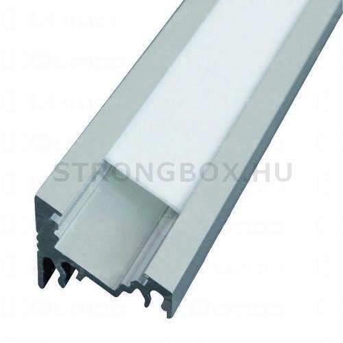 LED alu profíl CORNER 30°/60° csavarozva 2m eloxált alumínium