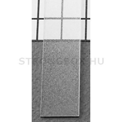 LED alu profíl takaró befűzős átlátszó 1m