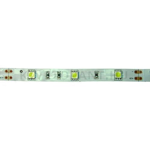 LED szalag  7,2W/m 12V melegfényű IP0