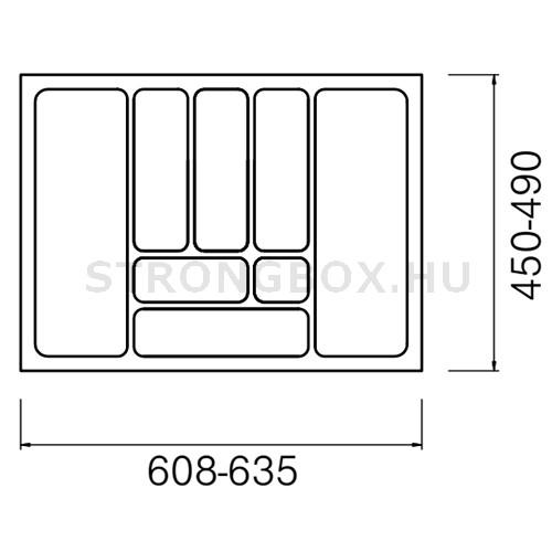 Evőeszköztartó Strong  70/490 (635x490) fehér