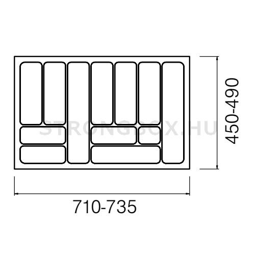 Evőeszköztartó Strong  80/490 (735x490) fehér