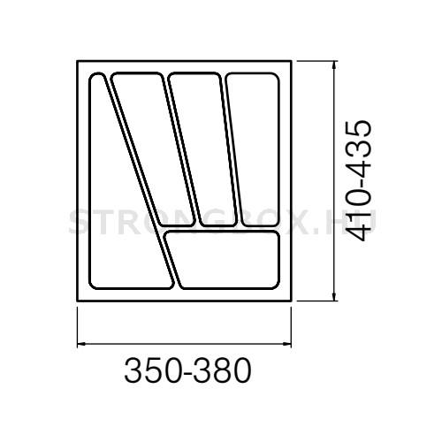 Evőeszköztartó Strong  45/435 (380x435) fehér