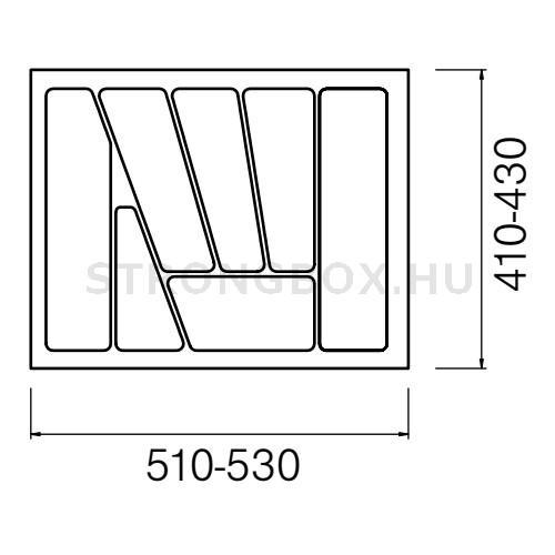 Evőeszköztartó Strong  60/435 (530x435) antracit
