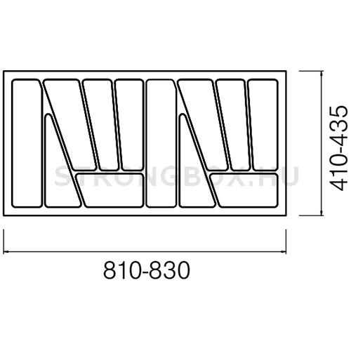 Evőeszköztartó Strong  90/435 (830x435) fehér
