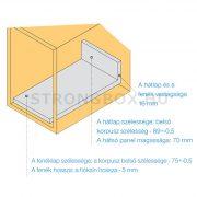 StrongBox fiókszett H 86/550mm szürke