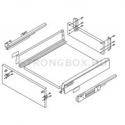 StrongBox fiókszett H 86/500mm szürke