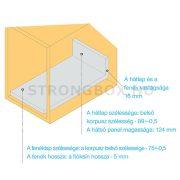StrongBox fiókszett H140/550mm szürke