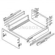 StrongBox fiókszett H204/400mm szürke