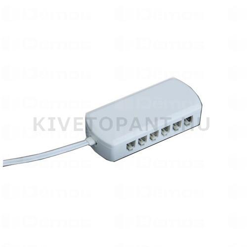 LED lámpához elosztó AMP 6 kivezetés kapcsolós lámpatestekhez