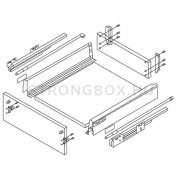 StrongBox fiókszett H140/300mm fehér