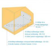 StrongBox fiókszett H204/350mm fehér