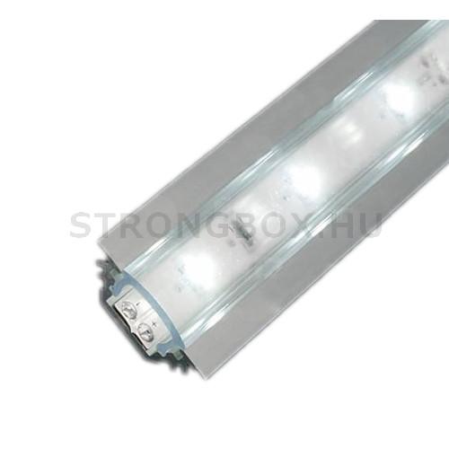 LED alu profíl TRIO csavarozva 45° vagy bemarásra 1m eloxált alumínium