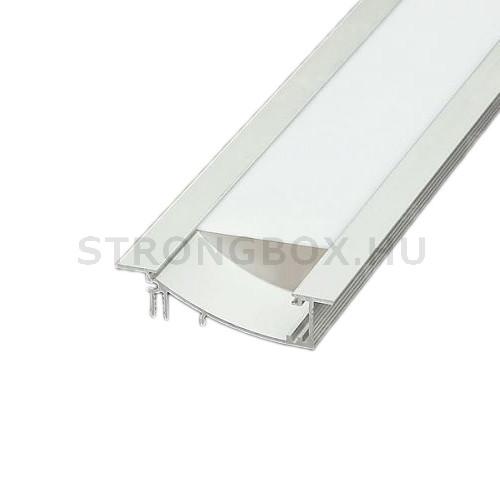 LED alu profíl FLAT bemaráshoz 1m eloxált alumínium