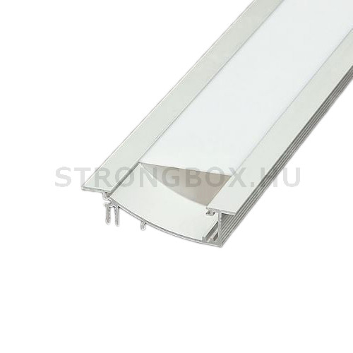 LED alu profíl FLAT bemaráshoz 2m eloxált alumínium