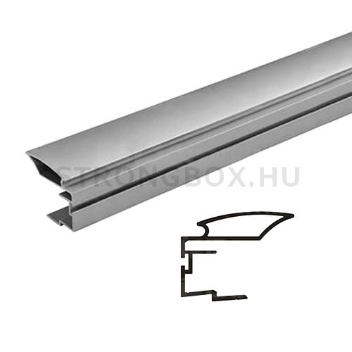 Sevroll fogantyú profil ALFA II 2,7m ezüst befűző kefés