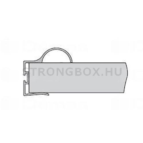 Sevroll fogantyú profil FOCUS II 18mm-es 2,7m ezüst befűző kefés