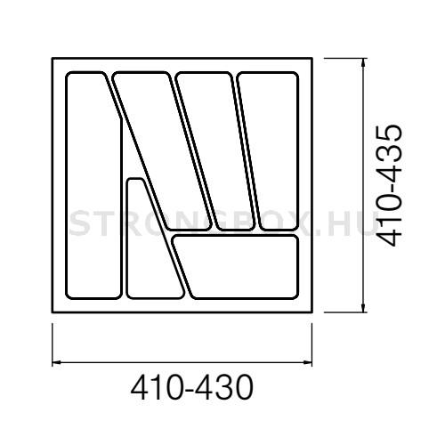Evőeszköztartó Strong  50/435 (430x435) fehér