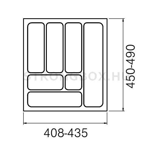 Evőeszköztartó Strong  50/490 (435x490) fehér