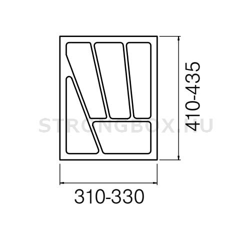 Evőeszköztartó Strong  40/435 (330x435) fehér