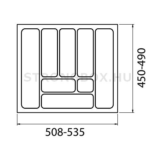 Evőeszköztartó Strong  60/490 (535x490) antracit