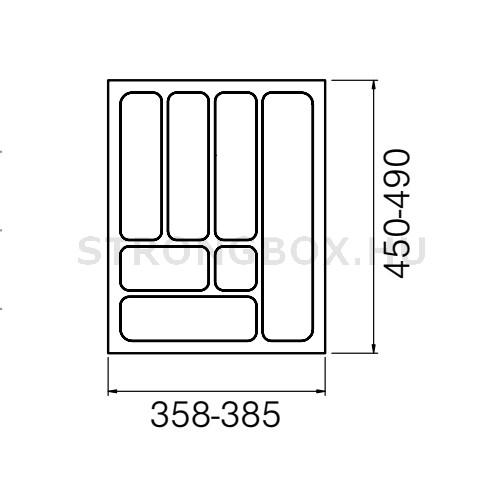 Evőeszköztartó Strong  45/490 (385x490) fehér