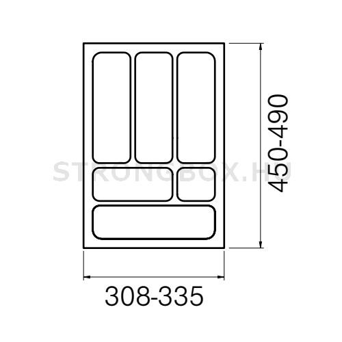 Evőeszköztartó Strong  40/490 (335x490) fehér