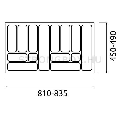 Evőeszköztartó Strong  90/490 (835x490) antracit