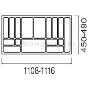 Evőeszköztartó Strong 120/490 (1116x490) antracit