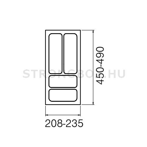 Evőeszköztartó Strong  30/490 (235x490) fehér