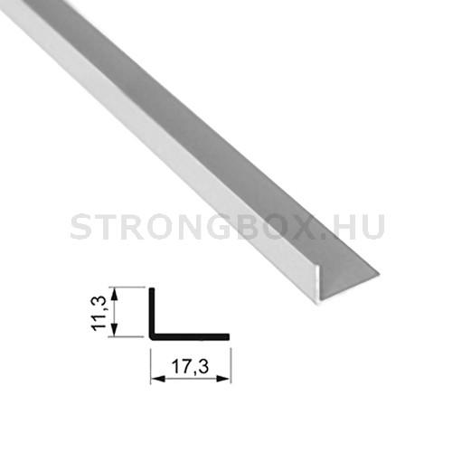 """Sevroll """"L"""" profil 17x11mm 2,35m ezüst"""