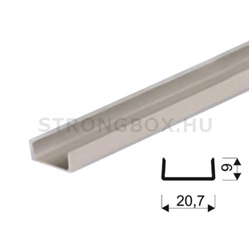 """Sevroll """"U"""" profil 18mm 3m ezüst"""